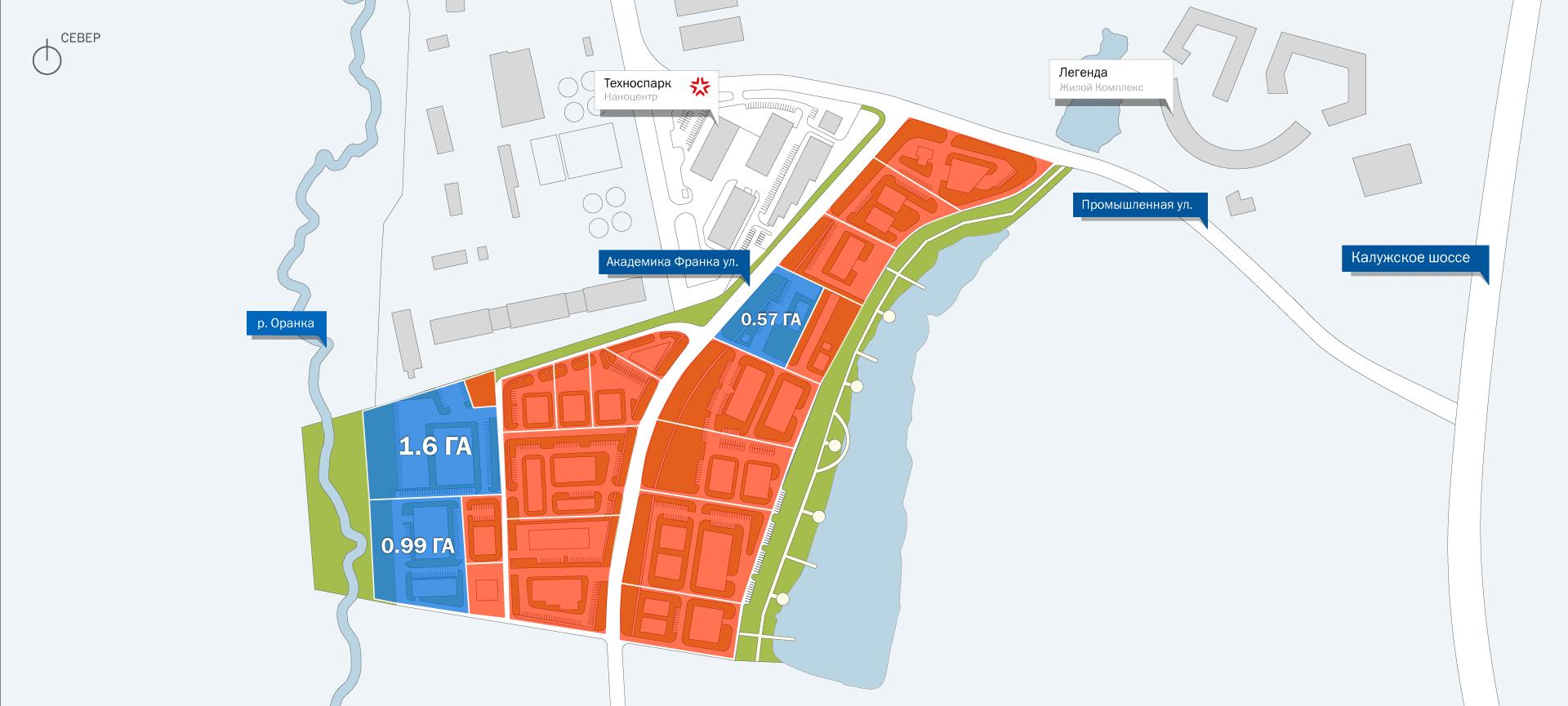 схема расположения участков, бизнес-парк Аспирант, новая Москва, Троицк